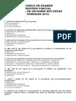 Modelo de Segundo Parcial Multiple Choice Nro 2 Psicologia General Gonzalez (Sensacion y Percepcion)