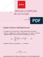 Integral Definida e Indefinida de Um Função