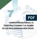 TEMA 7 - CORRIENTES ACTUALES. EL CONSTRUCTIVISMO Y LA TEORÍA DE LAS INTELIGENCIAS MÚLTIPLES