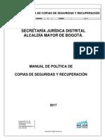 Manual de Politica de Copias de Seguridad