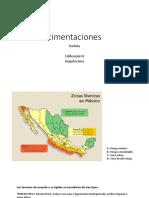 Cimentaciones y tipos de suelo. Caso Colima