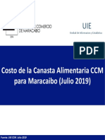 Estudio de la Cámara de Comercio de Maracaibo - CAN Julio 2019