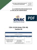 CEA 3.0 ONAC