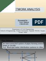 Pipe Network Analysis using Hardy Cross method