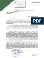 Carta del Ministerio de Fomento al Instituto Nacional de Estadística