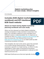 B2B Startup Digital Marketing Plan Workbook and Case Study Smart Insights
