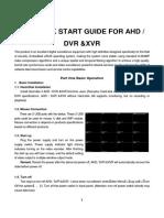 Quick Start Guide AHD DVR &XVR