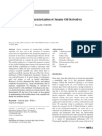 Physico-Chemical Characterization of Sesame Oil Derivatives