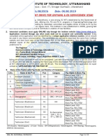 Advt. No.8 - Advertisement for PWD and Ex-Servicemen Posts - 2019