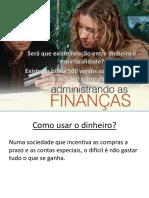 Administrando Finanças
