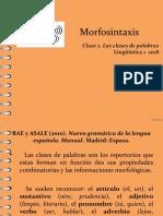 Morfosintaxis CLASE 2 Las clases de palabras (1).pdf