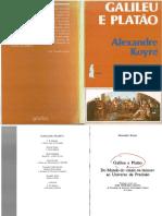 KOYRE, Alexandre. Galileu e Plat_o