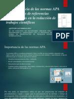 La Importancia de Las Normas Apa Diapositivas