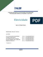 Trabalho de Eletrica - Multimetro