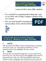The FIRAC Method of Legal Writing