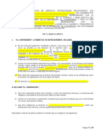 Formato Contrato Prestacion Servicios Profesionales