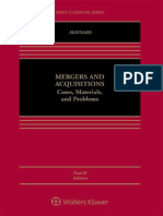 Mergers and Acquisitions_ Cases, Materials, And Problems (Aspen Coursebook