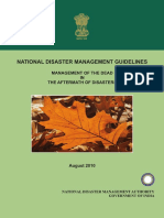 Management of Dead in the Aftermath of Disasters