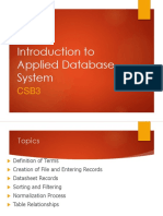1. Introduction to Applied Database-2019