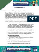 Evidencia 7 Workshop Talking About Logistics V2 F Docx