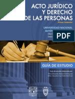 Guia Acto Juridico y Derecho de las Personas