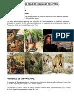 Los Primeros Grupos Humanos Del Perú