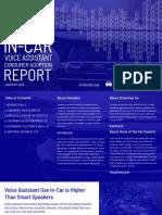 In-car Voice Assistant Consumer Adoption Report 2019 Voicebot