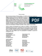 Encuentro CIFFYH IDH - 3ra Circular