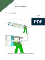 How a Caulk Gun Works