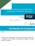 Mortalidad Lesiones Accidentes Transporte Colombia 2013 2014