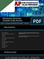 Elementos Químicos (Cobalto,Yodo,Azufre) 2