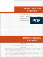 Tecnica Legislativa Redacao