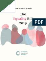 Equality Bill 2019 22nd July 2019