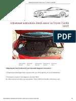 Clutch adjustment Toyota Corolla (E15) 2007-2010