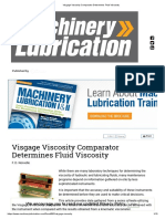 Visgage Viscosity Comparator Determines Fluid Viscosity