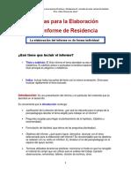 Pautas Para La Elaboración de Residencia - IES