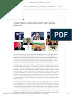 ¿Imparables Nacionalismos_, Por Carlos Gabetta