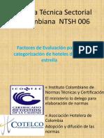 Factores de Evaluación para la categorización de hoteles de Una estrella