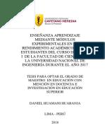 Ensenanza Fisica Experimental HuamaniHuaranja Daniel