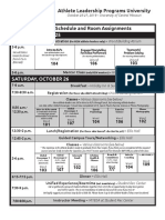 SOMO ALPs Univ. Oct. 25-27 schedule