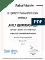 Acceso y Uso de La Información Científica en Salud-Certificado Del Curso 127103