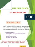 UCP Linea Recta en El Espacio (2015-1)