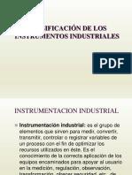 clasificación de los instrumentos industriales