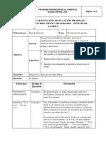 Protocolo Divulgación Programa - Mitos y Realidades- Signos y Sintomas