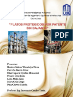 Platos Sin Bajante Patentados