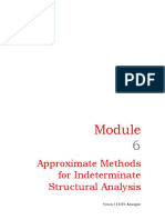 Module-6 Approximate Methods for Indeterminate Structural Analysis