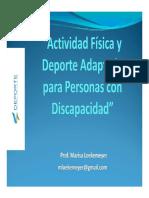 Actividad Fisica Para Personas Con Discapacidad