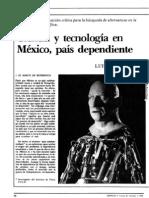 Ciencia y Tecnologia en Mexico Luis A de la Peña Ciencia 1005 1987