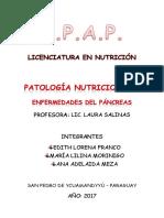 Patología nutrición I