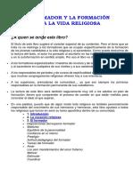 Pedro Finkler_el Formador y La Formación Para La Vida Religiosa